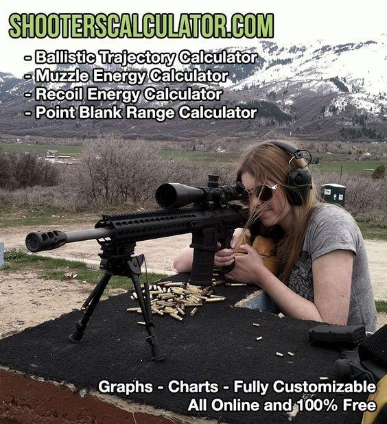 ShootersCalculator com - Online ballistic calculators to