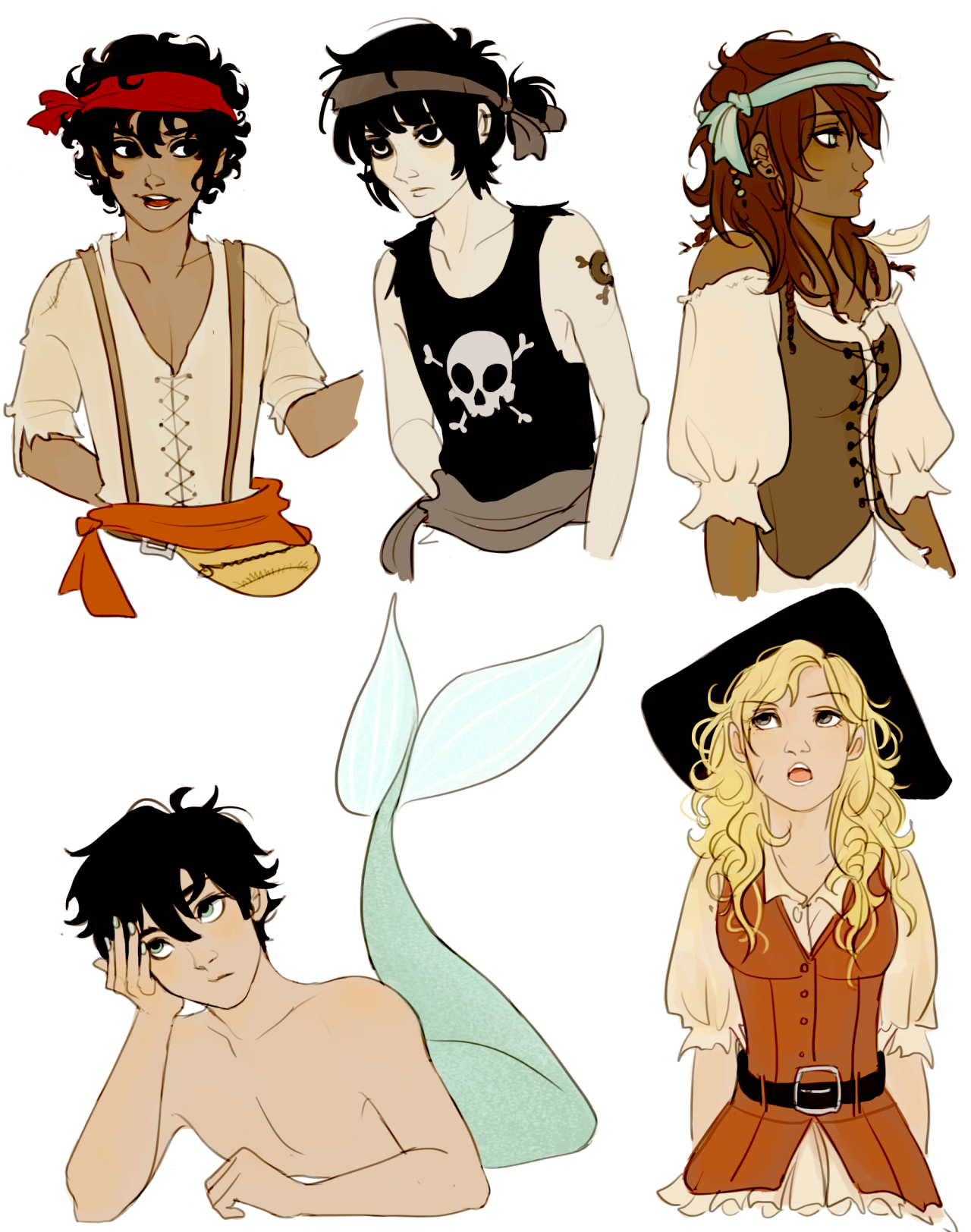 rabus: au! in which everyone is a pirate and then there's merman percy