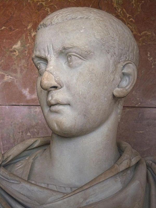 Portrait of the Roman emperor Gordian III 242-244 CE Marble | da mharrsch