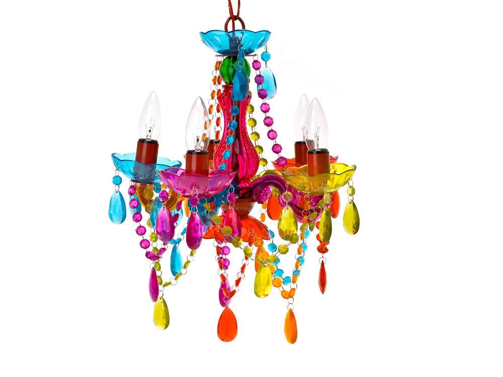 Present Time Silly Gifts Small Gypsy Lamp Chandelier Multi Coloured 5 Arm