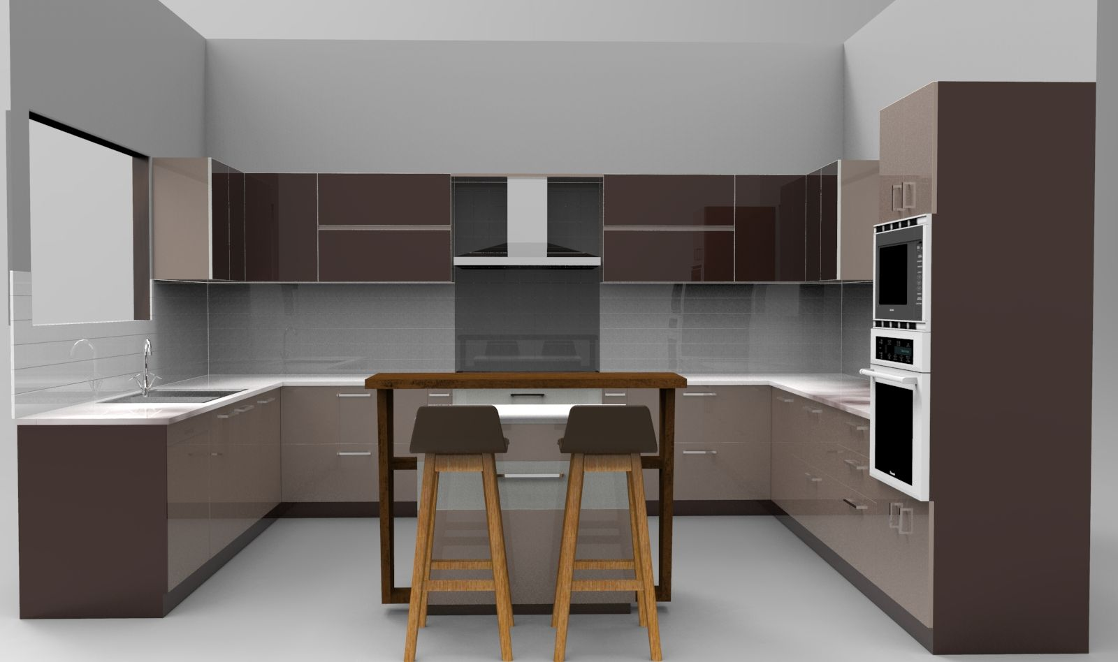 Project Kitchen For Independent Villa Approx Dimensions 14 0 X 14 0 Execution Structure Made Up Of Marine Plywood With Kitchen Design Home Decor Kitchen