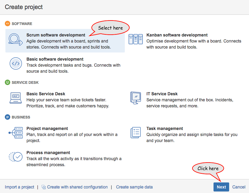 How To Create A Project In Jira Basic Software Agile Development Agile Project Management