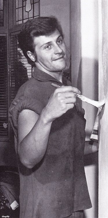 Pete Best (The Beatles) doing a spot of painting.   The ...