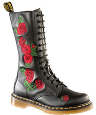 Dr. Martens | Gomez Floral Embroidered Combat Boot | HauteLook