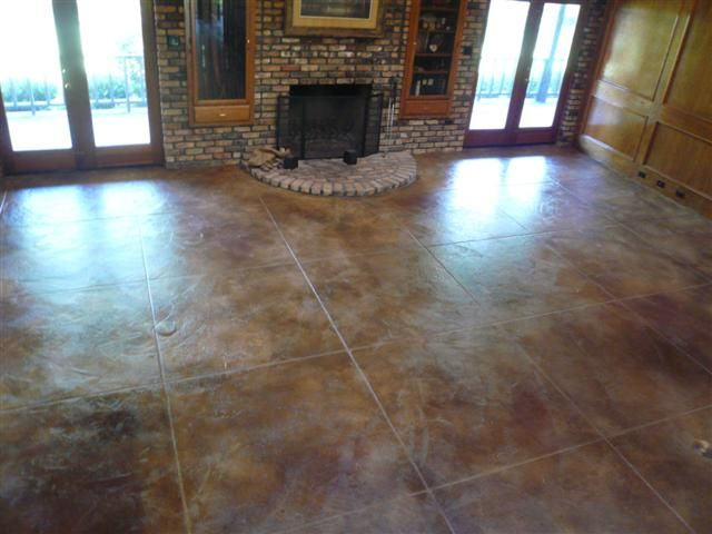 Acid Washed Concrete Floors Are Amazing And Can Be So Flexible With Design Creativity Services Miracles