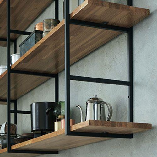 はしご状の金具と棚板の固定 Com Imagens Cozinhas Modernas Moveis Cozinha Design De Interiores Casa
