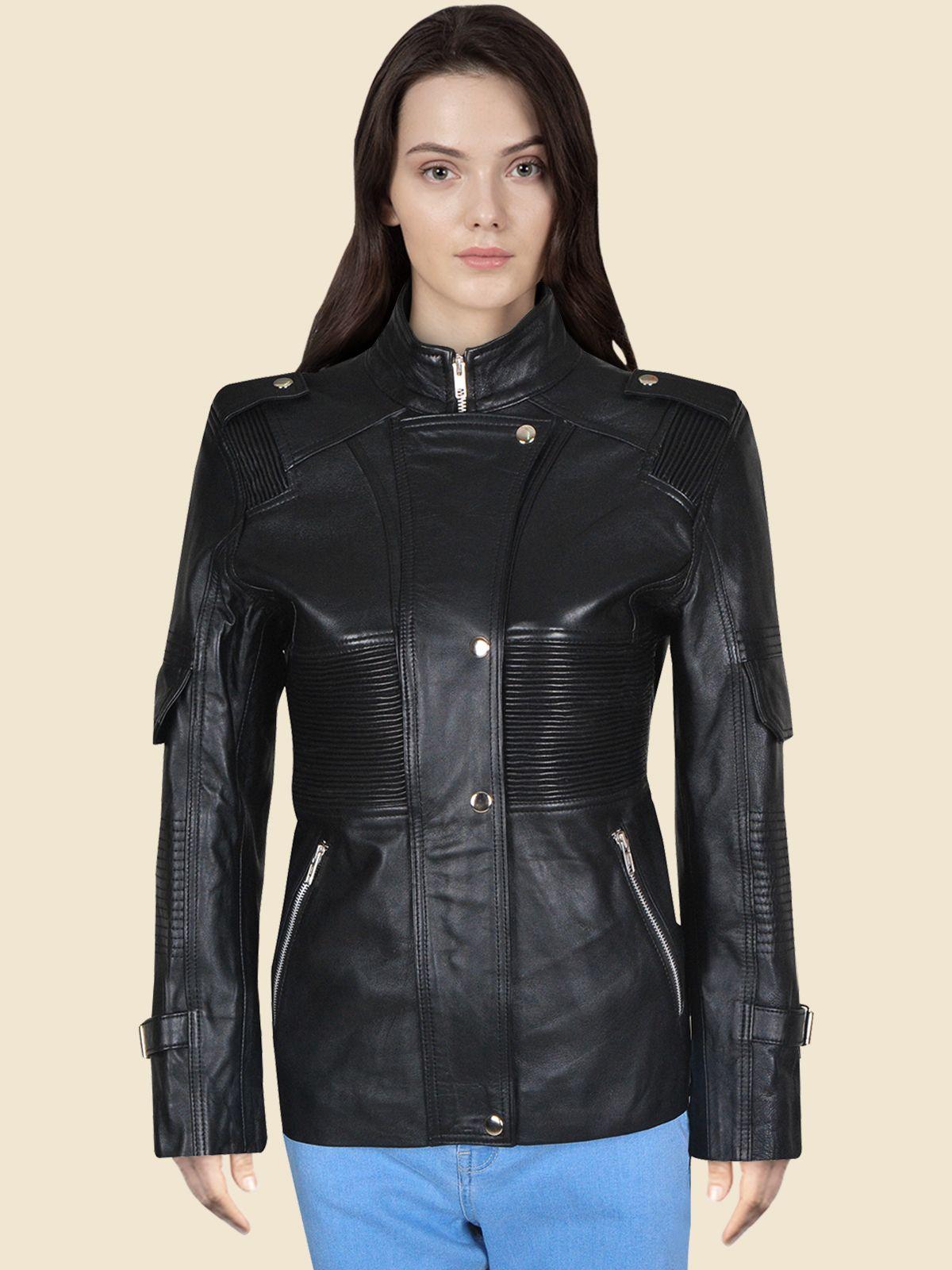 Black Stylish Genuine Leather Jacket For Women S Leather Jacket Jackets For Women Leather Jackets Women [ 1600 x 1200 Pixel ]