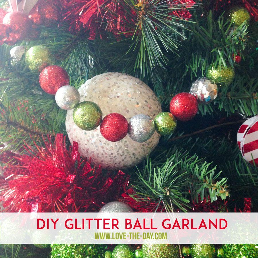 Whimsical Christmas Trees Ideas: DIY Christmas Decorations:: Whimsical Glittered Ball