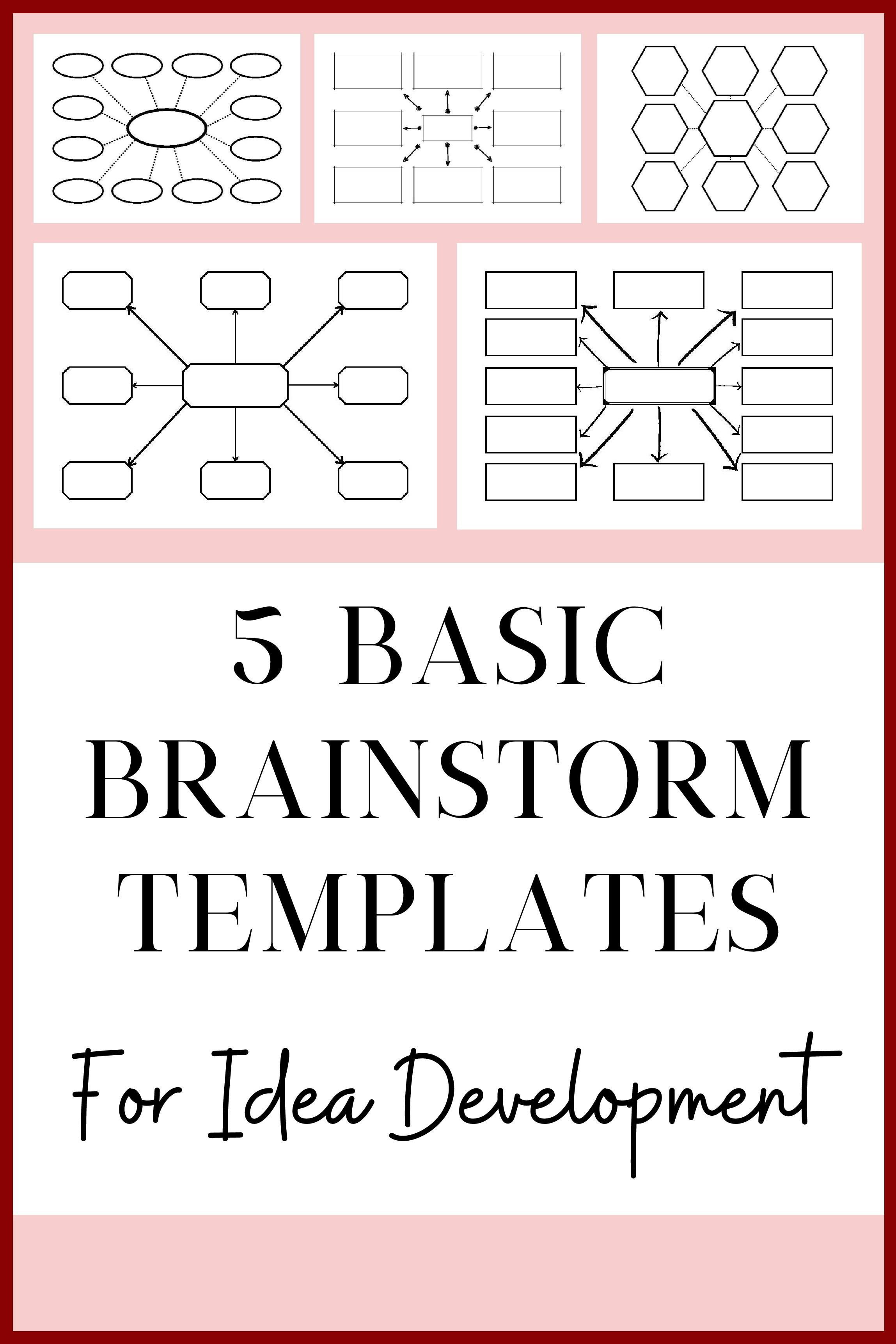 Brainstorm Templates 5 Basic Mindmap Layouts For The