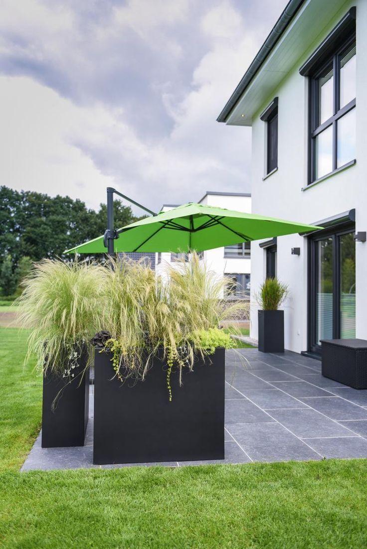 Blumentopf Als Sichtschutz Auf Terrasse Balkonkastenpflanzenideen