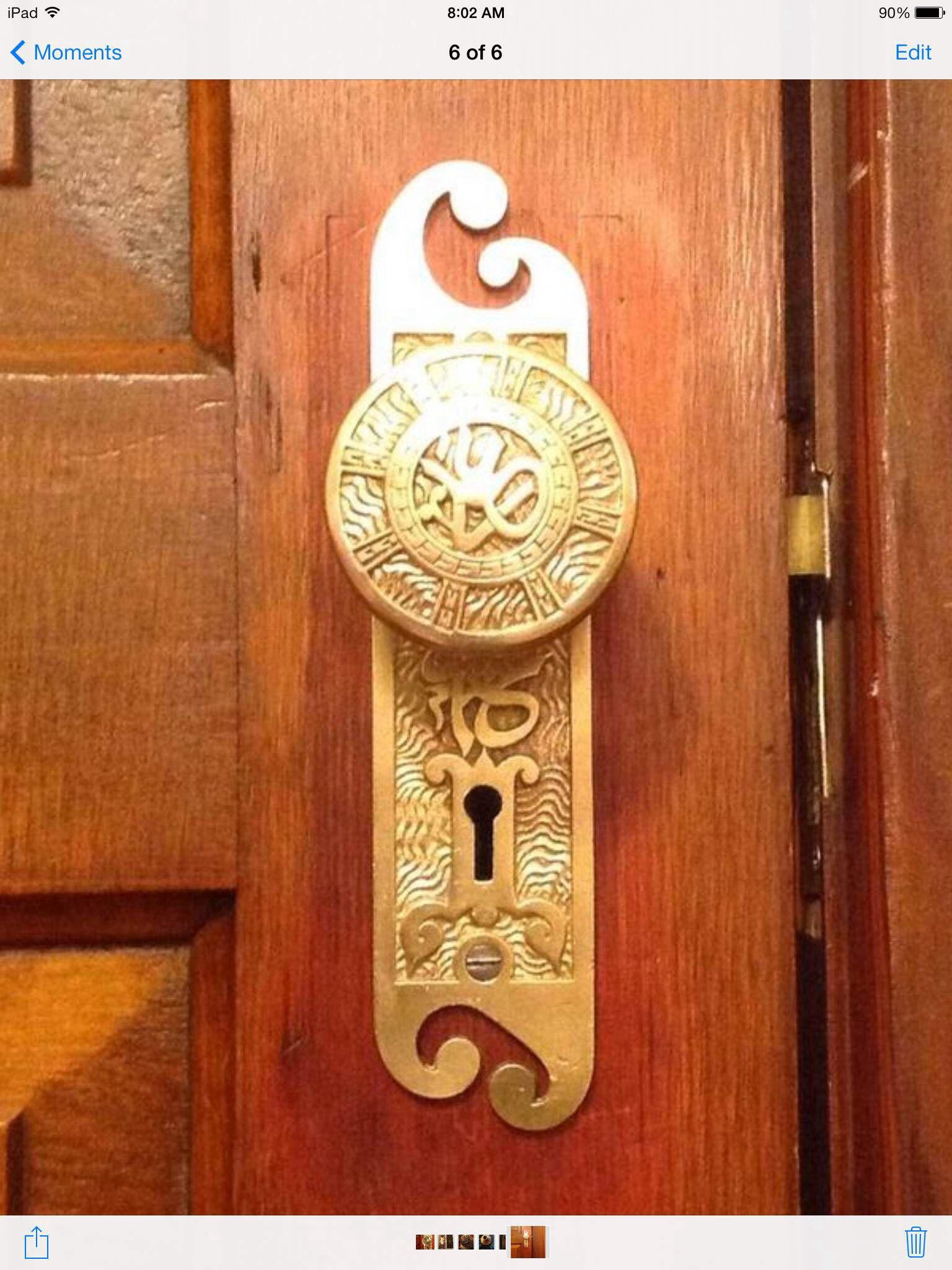 Arabic design, 1800\'s | Vintage door Hardware...beautiful ...