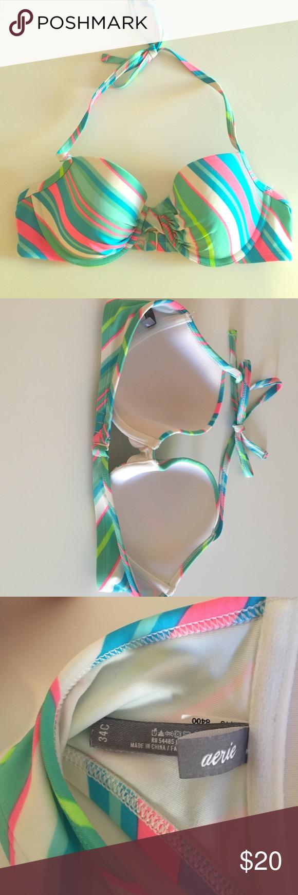 Aerie Bikini Top Swim Suit Aerie Blakely Striped Underwire Bikini Top aerie Swim Bikinis