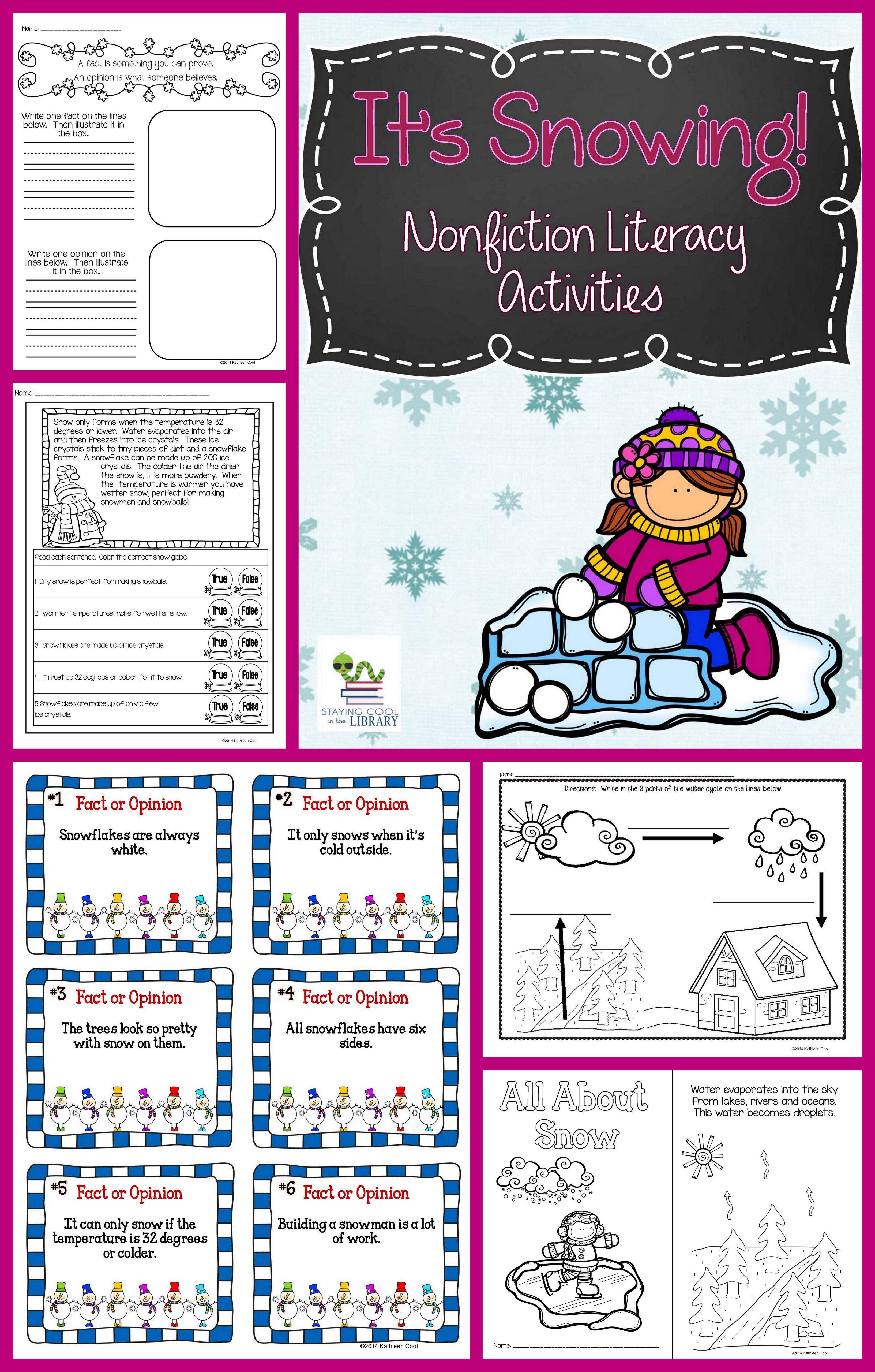Snow Nonfiction Activity Pack