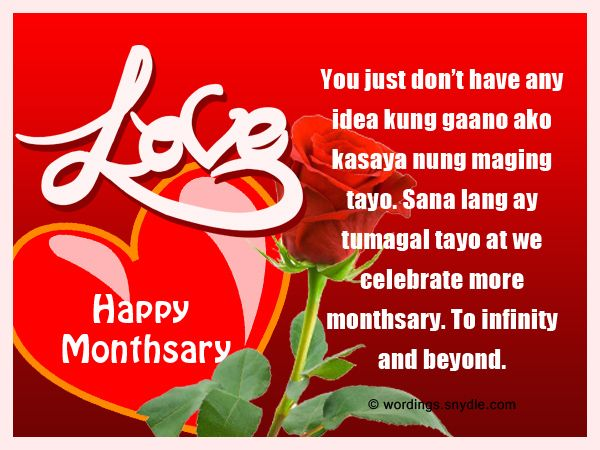 Tagalog Monthsary Messages Wordings and Messages | Places ...