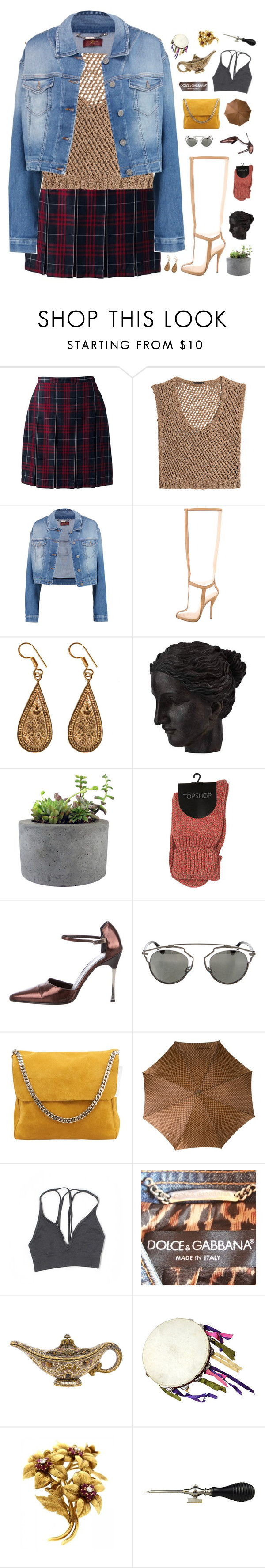 """""""p0wer"""" by frostedfingertips ❤ liked on Polyvore featuring Lands' End, DAMIR DOMA, 7 For All Mankind, Christian Louboutin, Urbiana, Ren-Wil, Rough Fusion, Gucci, Christian Dior and CÉLINE"""