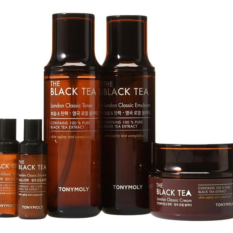 Buy Tonymoly The Black Tea London Classic Skin Care Set 5pcs Yesstyle Skincare Set Skin Care Black Skin Care