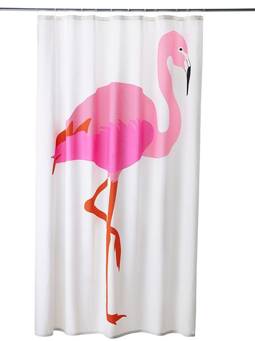 Flamingo Decor From Ikea   Cheery Shower Curtains For Just $14.99   And More