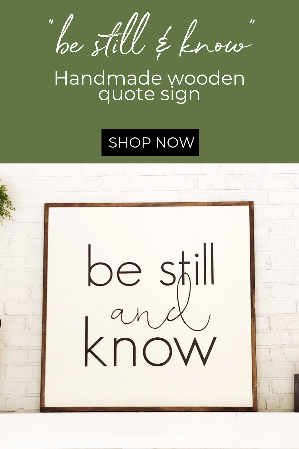 Be still and know | Square Wood Sign images