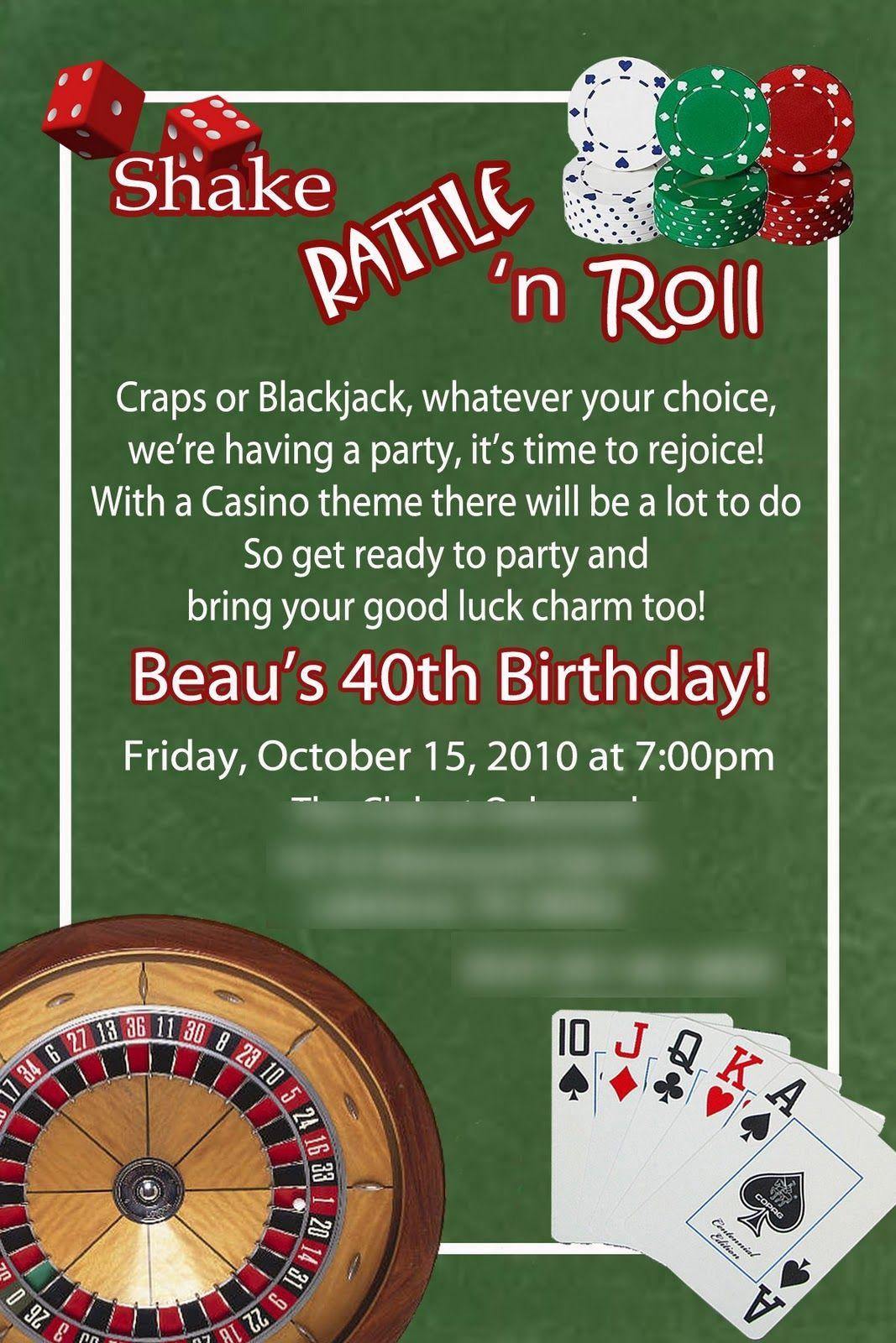 17 Best images about Casino Party – Casino Party Invitations