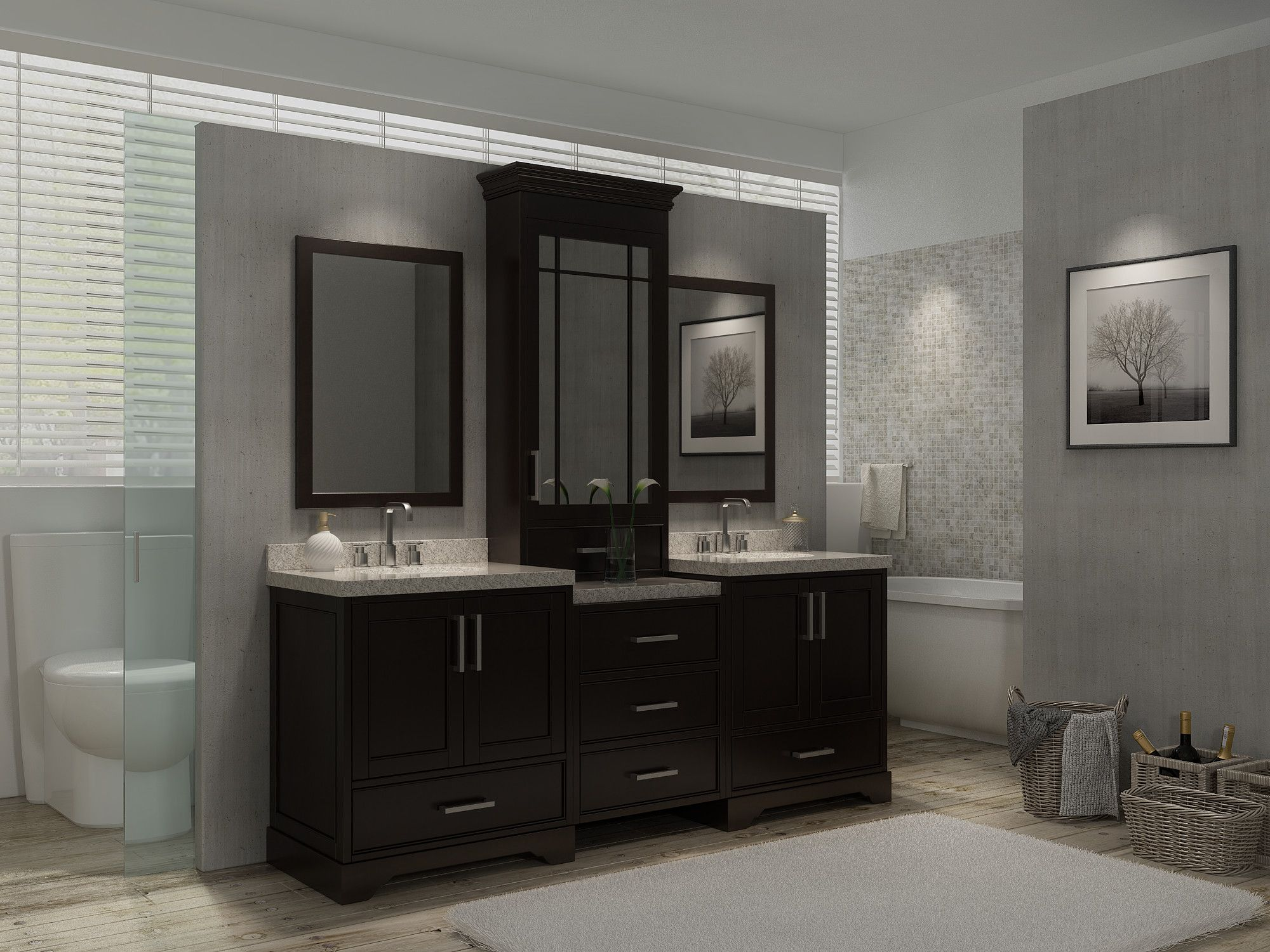 Modern Bathroom Renovations You Should Consider Architecture - Bathroom vanity hutch cabinets for bathroom decor ideas