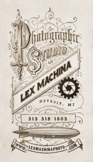 Vintage Photography Business Card Western Steampunk Victorian