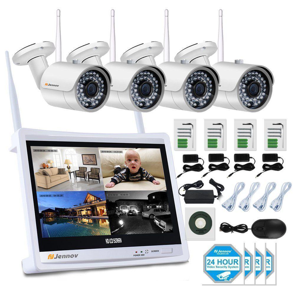 Jennov 4 Channel CCTV Wireless WiFi IP Security Camera System 12 ...