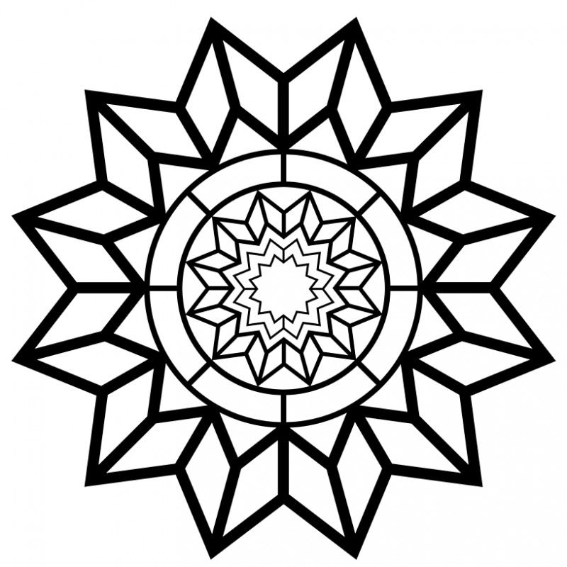 Free Printable Adult Coloring Page – Detailed Star Pattern   bible ...