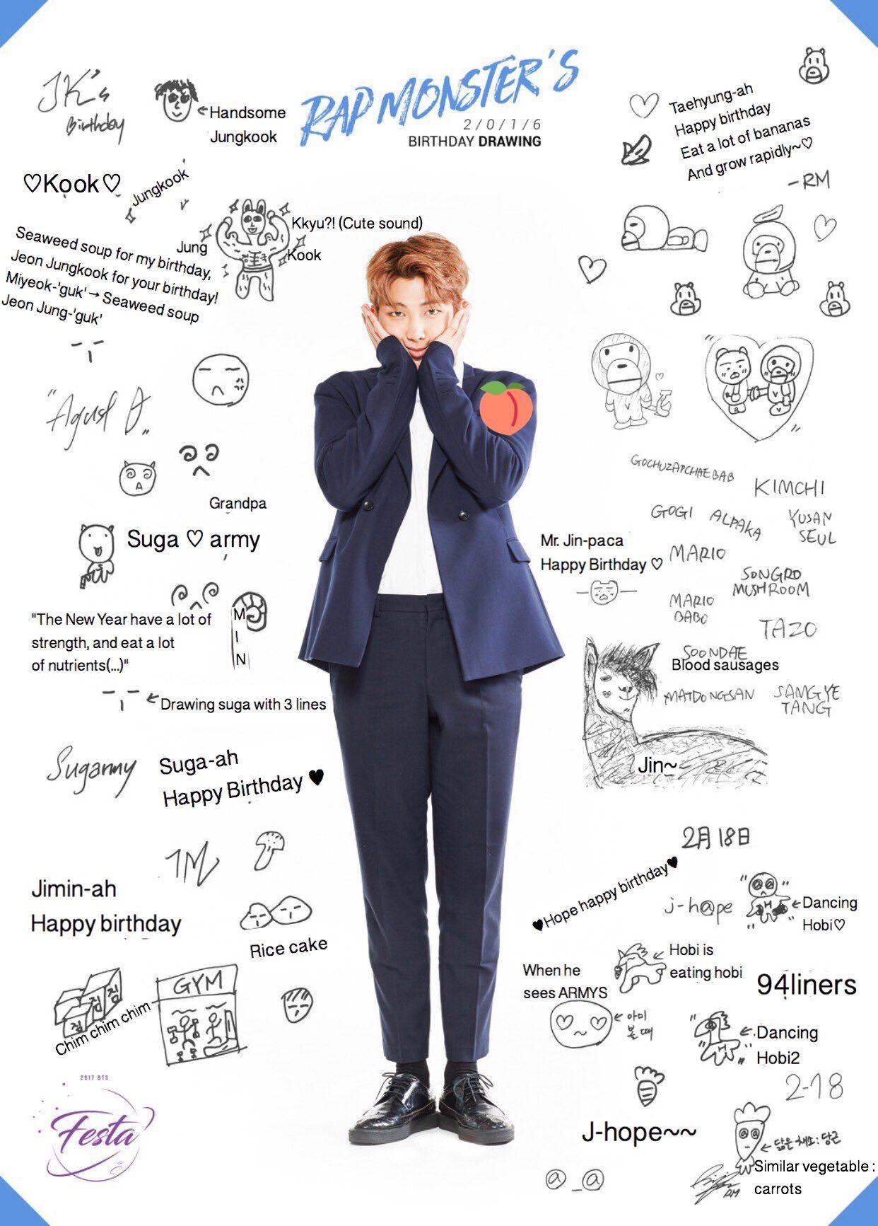 rm birthday Rapmon's birthday wishes | #PresidentKim | Pinterest | BTS, Bts  rm birthday