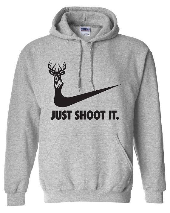 06fe010393 just shoot it hunting buck doe deer funny US duck hoodie hooded sweatshirt  Mens Womens Ladies USA Canada wild wildlife moose turkey ML-169BH on Etsy