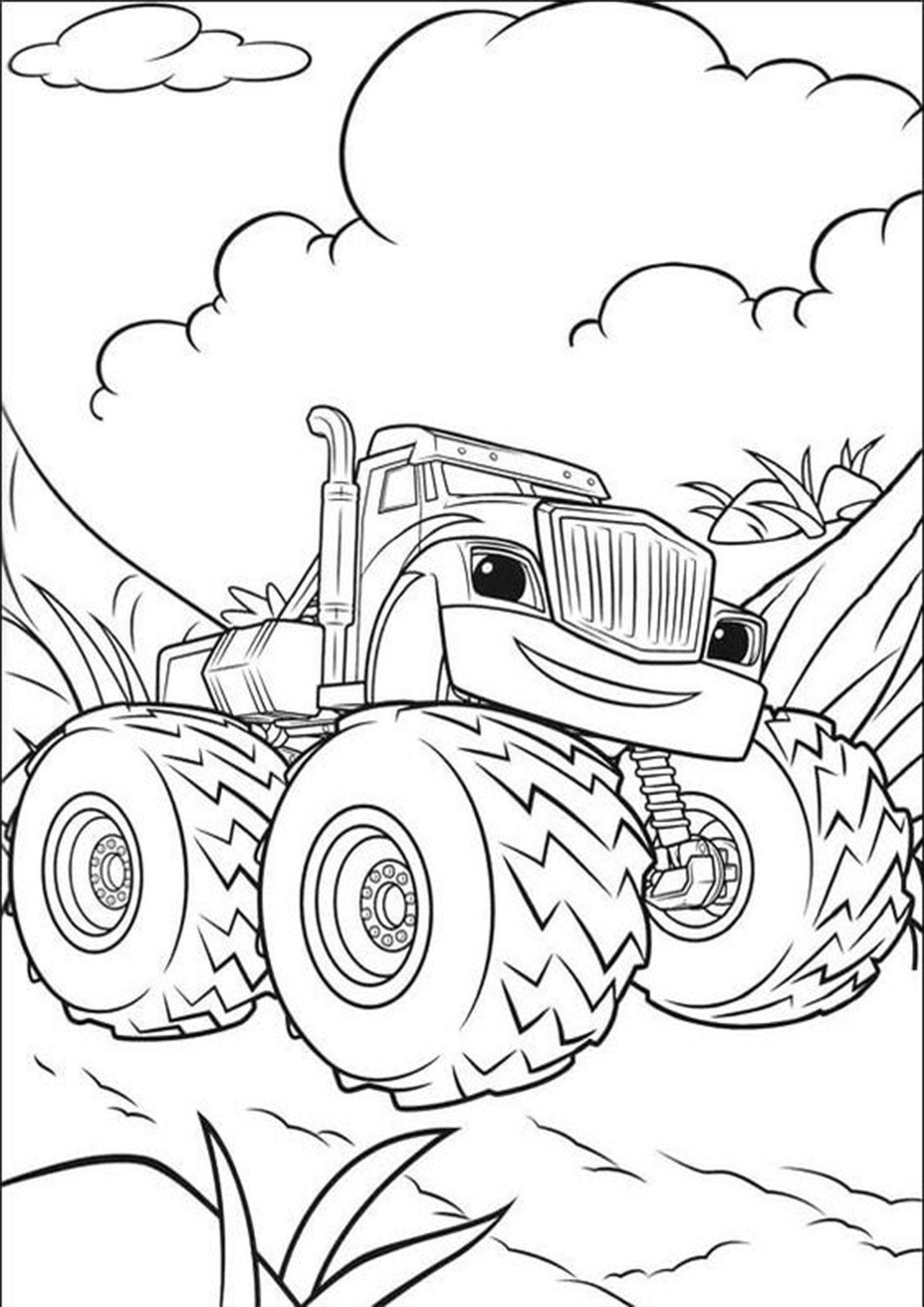 Monster Truck Coloring Pages Free Easy To Print Monster Truck Coloring Pages Tulamama Monster Truck Coloring Pages Truck Coloring Pages Mario Coloring Pages
