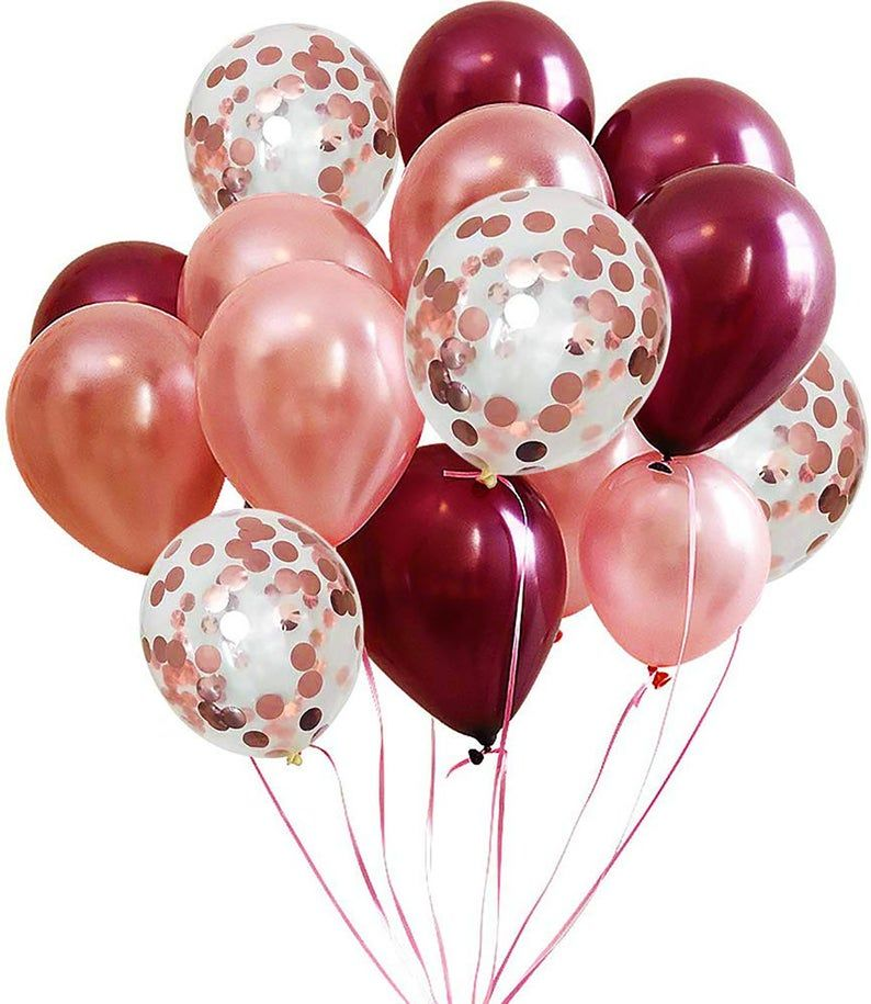 Rosewood 12 round latex balloons