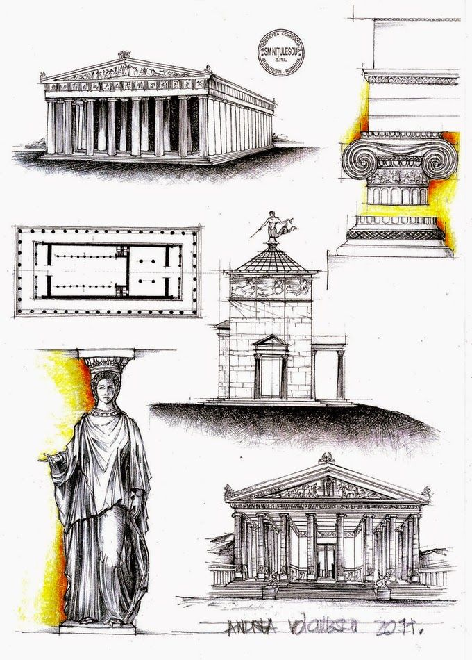 Drawings Of Historic Architecture Historical Architecture Ancient Greek Architecture Greece Architecture