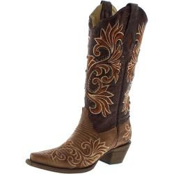 Photo of Corral Boots A3328 Brown Lizard Damen Exotic Westernstiefel – braun Corral Boots