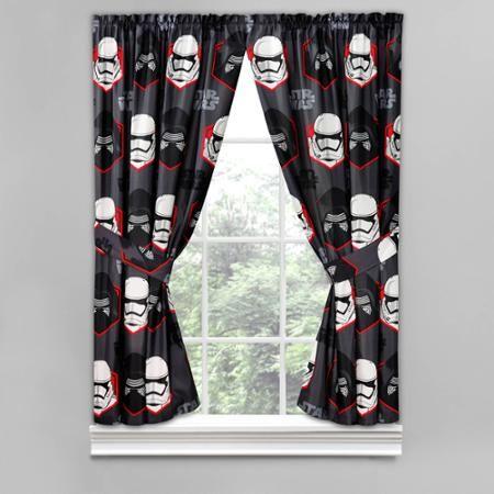 Star Wars Episode 7 Window Curtain Panels Set Of 2