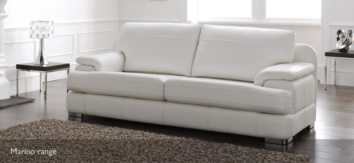 Lighten Up With The Marino Range In Softgrain White Http Www Sofasofa Co Uk 2 Seater Leather Sofa Html Product Details