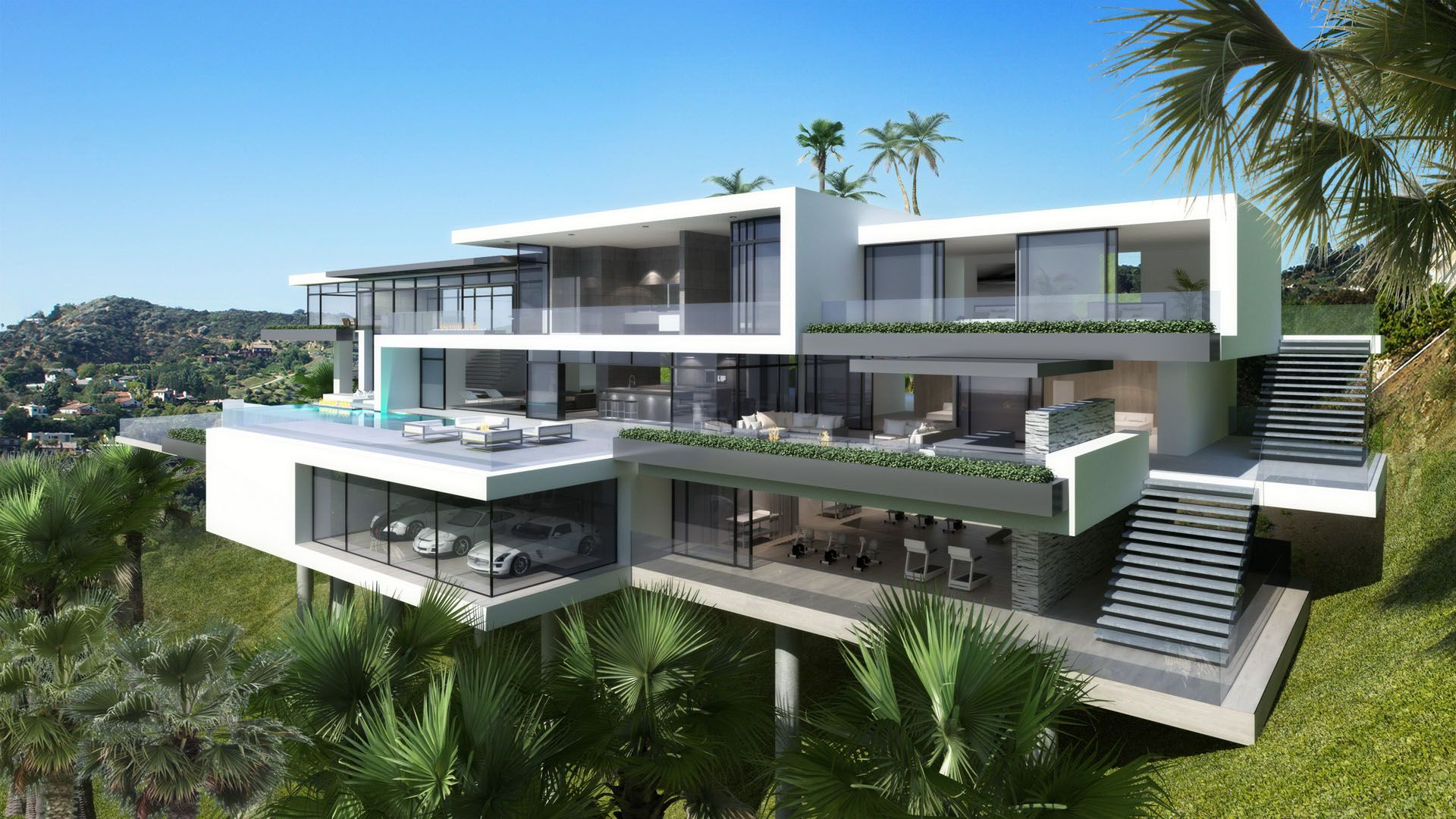 Big Beautiful Modern Mansions modern mansions on sunset plaza drive in la: modern mansions plan