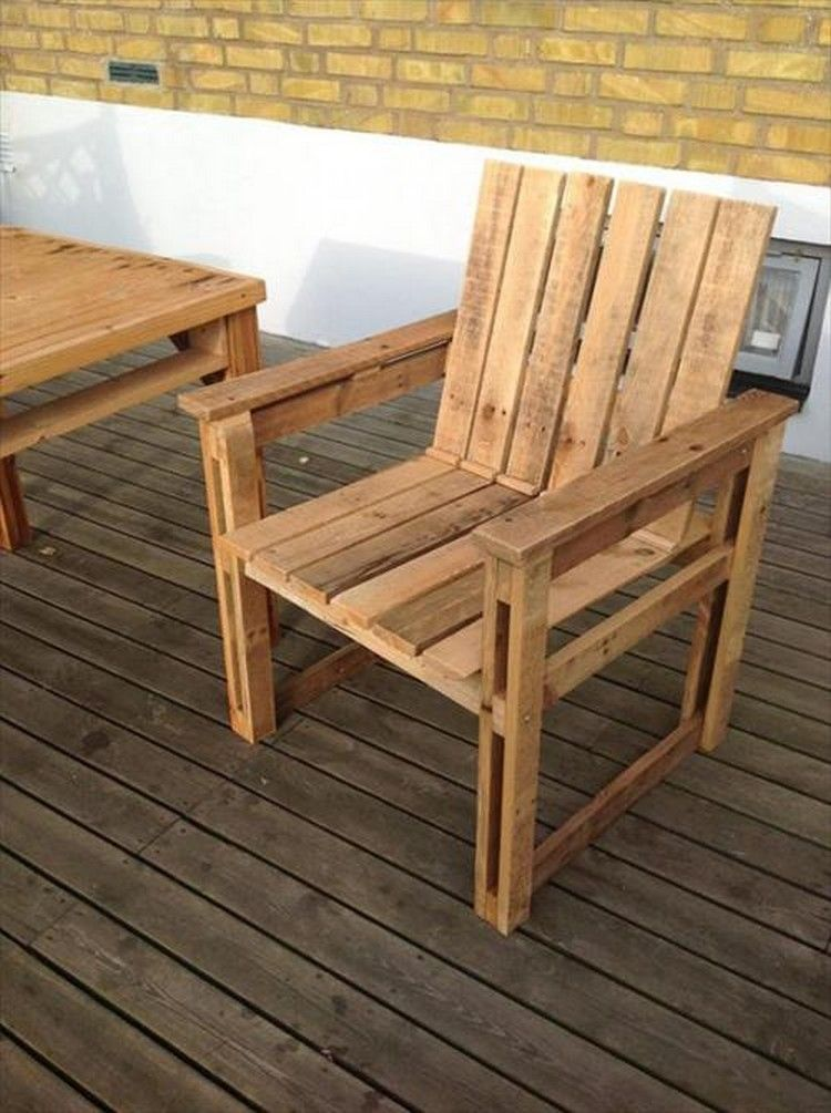 Restful Pallet Wood Chairs