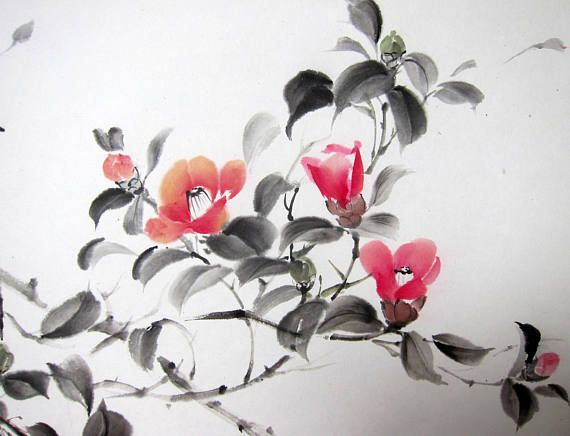 Retreat By Bill Searle Japanese Watercolor Sumi E Painting