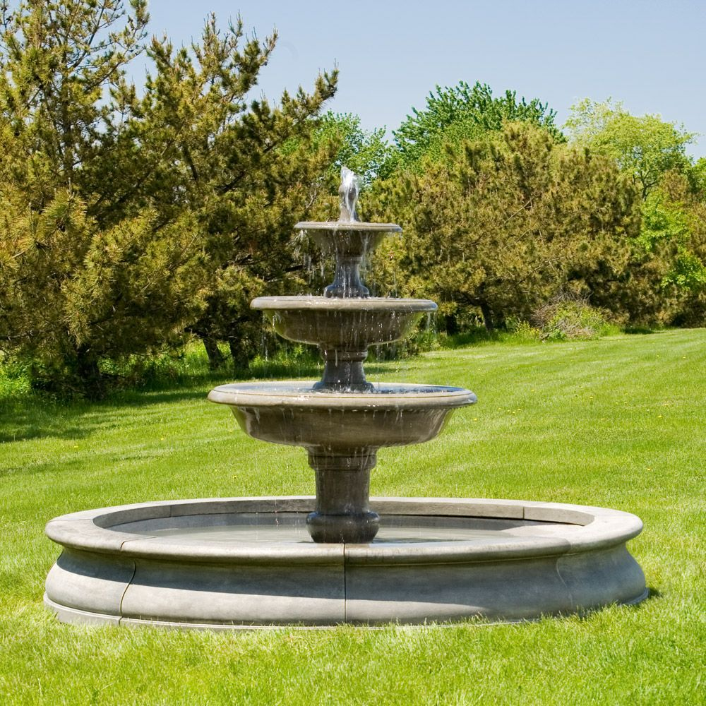 At Home With White. Garden FountainsStone FountainsOutdoor ...