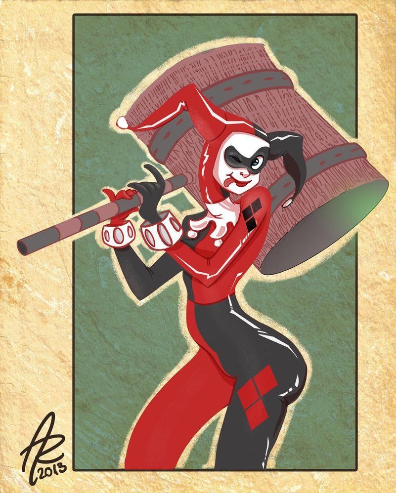Like most people, I've fallen in love with DC Comics' Bombshells line and several people have been asking me when I was going to get round to drawing them. Well here you are, Harley Quinn in the Bo...