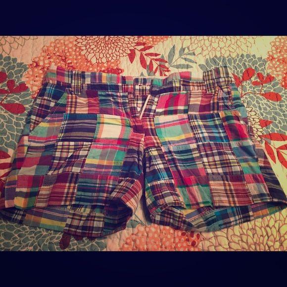 Jcrew plaid shorts Great condition! J. Crew Shorts