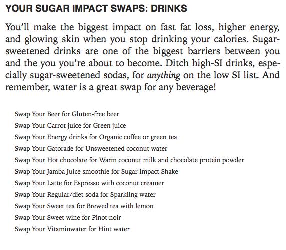 Low-, Medium- and High-Sugar-Impact Foods List
