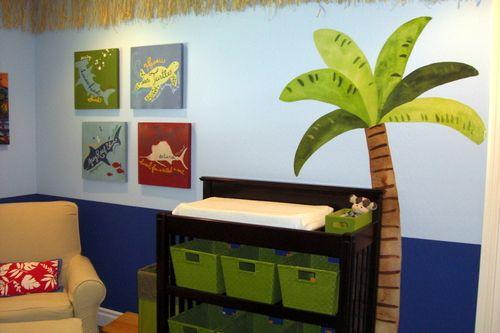 boy beach nursery idea