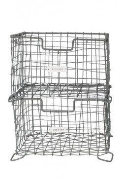 Industrial Chic Zinc Storage Basket