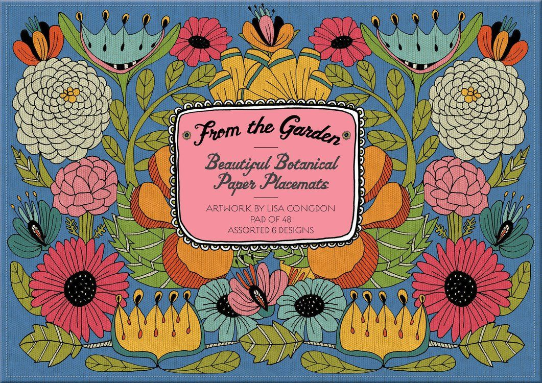 From the Garden Beautiful Botanical Paper Placemats