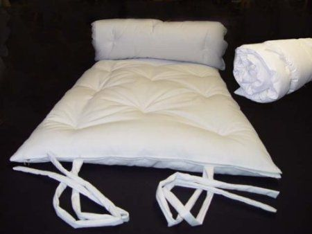 Brand New White Full Size Traditional Japanese Floor Futon Mattresses Foldable Cushion Mats Yoga