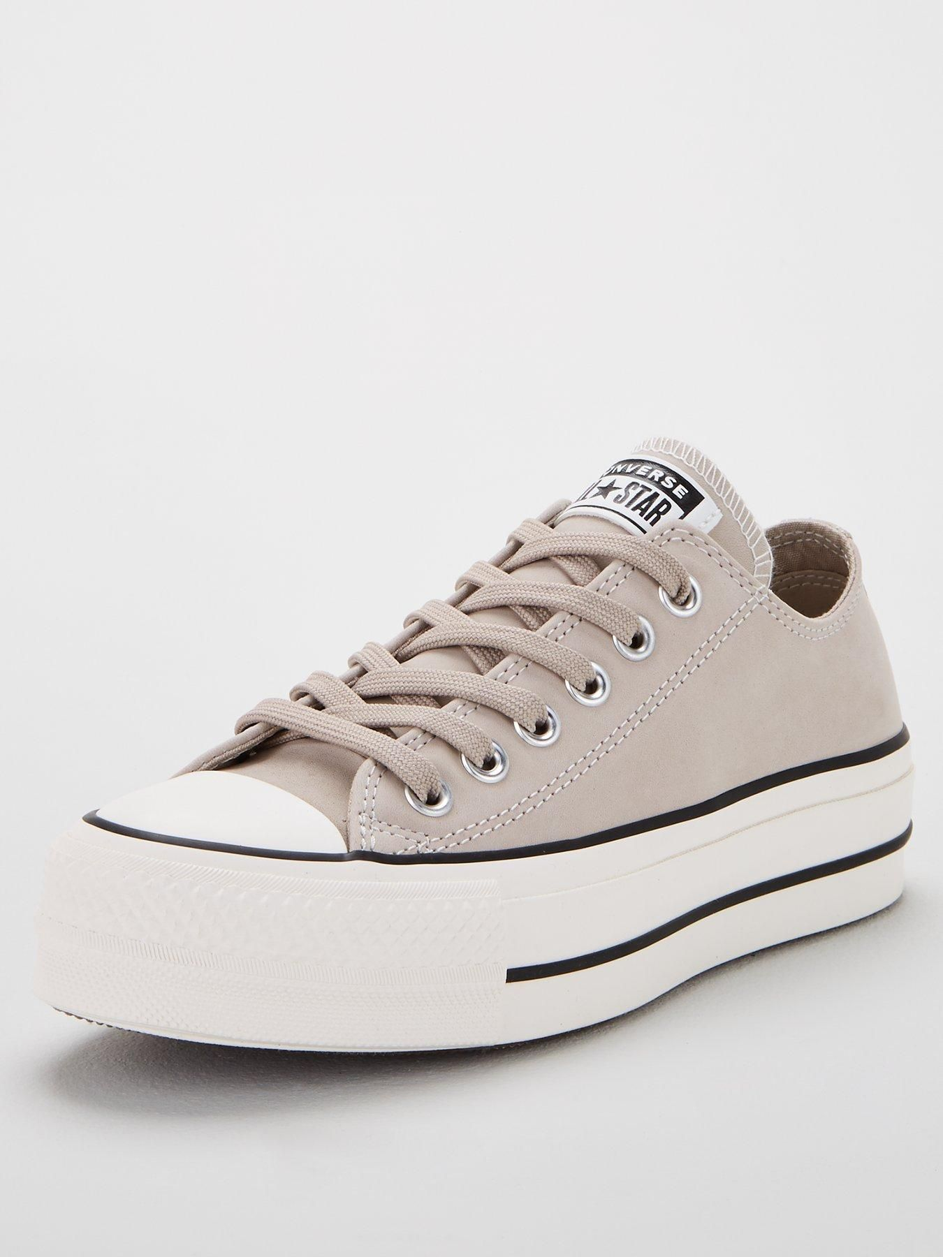 converse all star platform beige