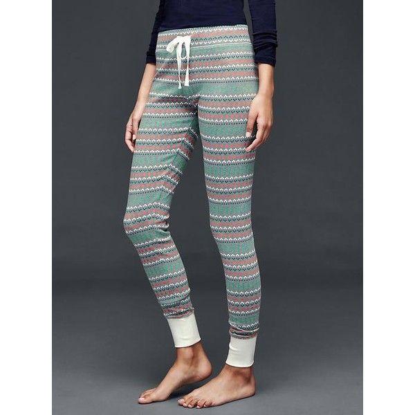 Gap Women Printed Cotton Leggings ($43) ❤ liked on Polyvore ...