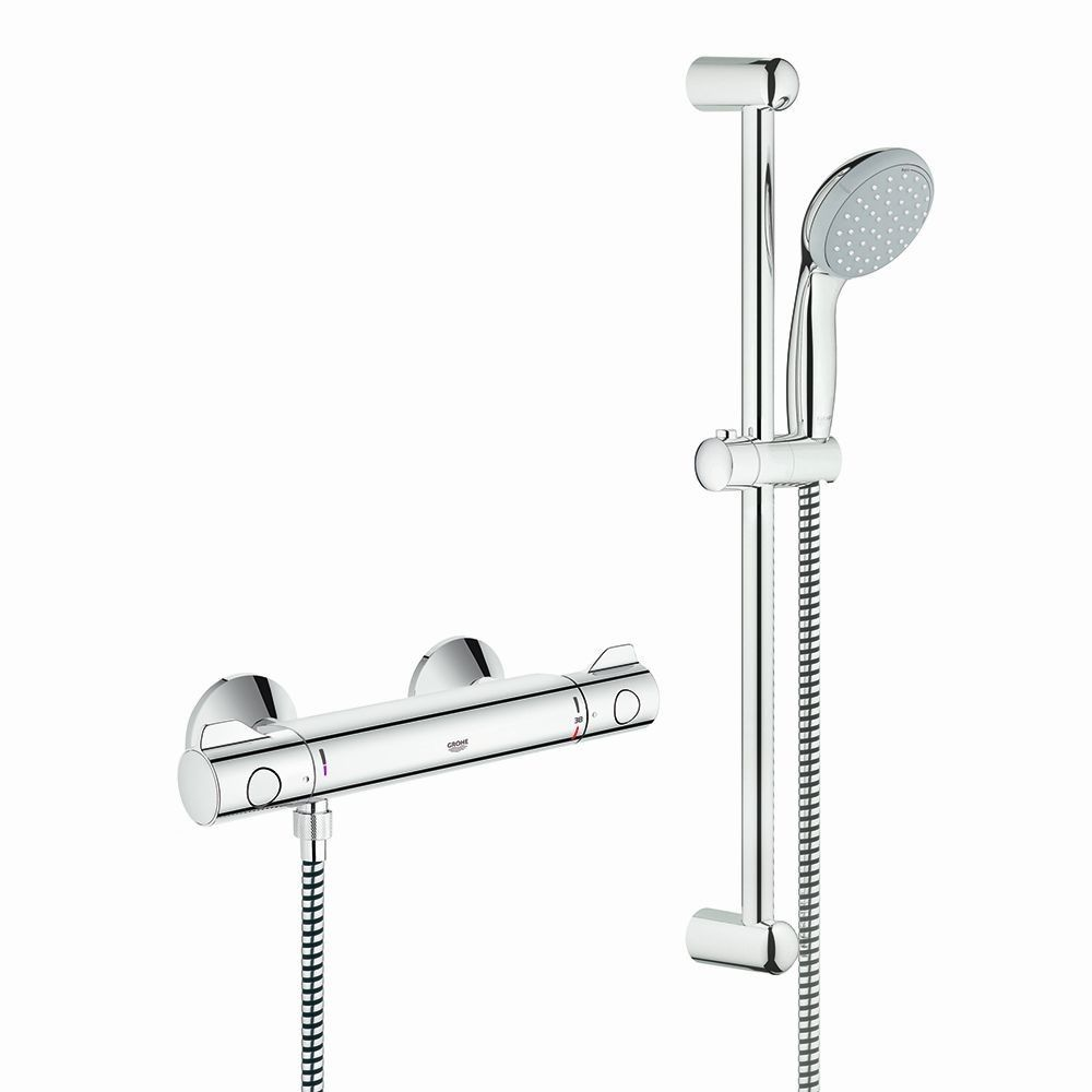 Grohe Grohtherm 800 Thermostatic Shower Mixer Chrome + Tempesta ...