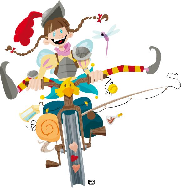Fillette à bicyclette. 2012.